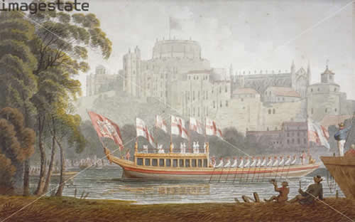 City of London State Barge 1812 24 oars