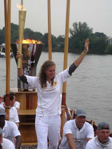 Nathalie carries the Torch